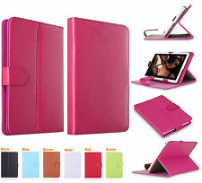 """Universal Leather Folding Stand Folio Case Cover For All 7"""" Tablets Tab Android"""