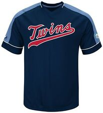 Minnesota Twins MLB Mens Cooperstown Vintage Hit Jersey Navy Big & Tall Sizes