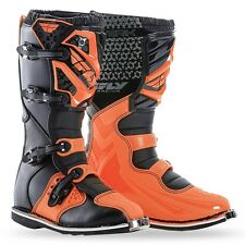 FLY RACING BLACK ORANGE MAVERIK MENS ADULT MX BOOTS RIDING RACING MOTOCROSS ATV