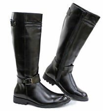 Stylish Mens Knee High Boots Faux Leather Riding Equestrian Army Shoes US SZ6-10
