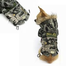 Winter Cat Dog Clothes Camouflage Coat Pet Dog Cotton-padded Clothes