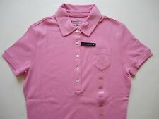 NWT TOMMY HILFIGER Women POLO Interlock Shirt Slim Fit Pink S, M