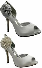 Ladies Peep Toe Wedding High Heel Sandals Womens Evening Party Bridal Shoes Size