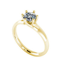 .50ct Solitaire Round Cut Engagement Ring Certified Natural Diamond 18ct Gold