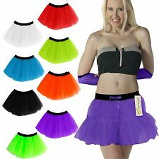 2 LAYER TUTU SKIRT GIRLS WOMENS LADIES FANCY DRESS HEN NIGHT PARTY NEON DANCE