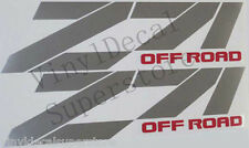 PAIR sharp CHEVROLET Z71 OFF ROAD Decal Stickers SILVER/RED or BLACK/RED or ++