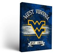 West Virginia Wvu Mountaineers Canvas Wall Art Banner Design