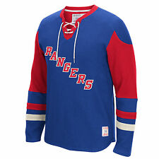New York Rangers CCM Men's Long Sleeve Jersey Crew Sweatshirt