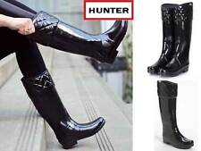 Hunter Limited Edition Regent Rigley Black Top Quilt Band Riding Style Boots