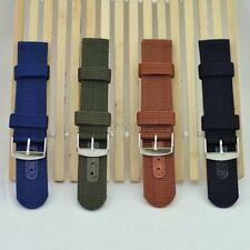 Hot Military Men Tactical Sport Army Wrist Watch Nylon Fabric Band Strap 18-24mm