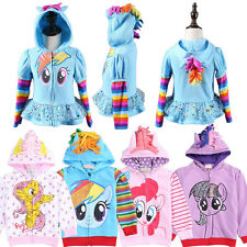 My Little Pony Coat Kids Clothing Girls Wing Cute Sweatshirt Hoodies Zip Jacket