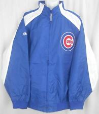 Chicago Cubs MLB Mens Majestic Textured Full Zip Blue Jacket Big & Tall Sizes