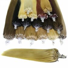 100g 100s Loop Micro Ring Loop Straight Remy Human Hair Extensions 1g/strand