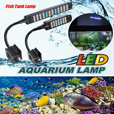 24/48LED Aquarium Fish Tank Flexible Arm 3 Mode Clip White& Blue Light Lamp 110V