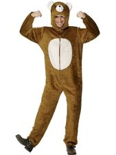 ADULT UNISEX BEAR FLEECE JUMPSUIT ALL IN ONE COSTUME PARTY ANIMALS - 2 SIZES