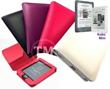 Executive Leather book style wallet flip case cover for KOBO MINI eReader Tablet