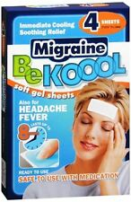 Be Koool Migraine Relief Cooling Pads Soft Gel Sheets Headache Fever Kool Cool