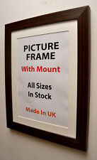 Mahogany Brown Picture photo w Frame Mount,Choice of Ivory,Black or White Mount