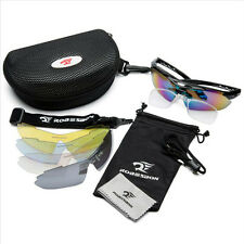 New 5 Pair Lens Polarized UV400 Cycling Bicycle Bike Glasses Sunglasses Goggles
