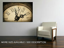 Canvas Print Picture Vintage Old Clock  / Gallery wrapped ready to hang