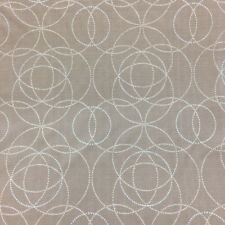 """Brown / Silver Circle Lattice Upholstery Vinyl Fabric By The Yard 54""""W Embossed"""