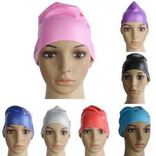 Waterproof Silicone Swim Cap Swimming Hat for Girl Ladies Long Hair Eco-friendly