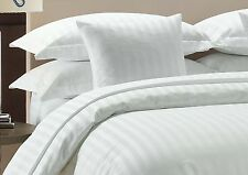 800 TC White Striped-Duvet/Fitted/Sheet Set/Pillow Egyptian Cotton All Size