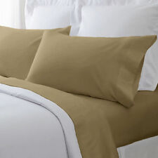 800 TC Taupe Solid Hotel Duvet/Fitted/Sheet Set/Pillow Egyptian Cotton All Size
