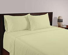 800 TC Ivory Solid-Duvet/Fitted/Sheet Set/Pillow Egyptian Cotton All Size