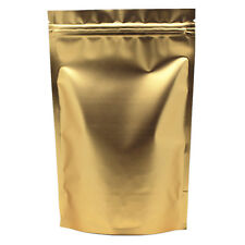 12x20cm Aluminium Foil Stand Up Gold Bags Pouches Food Grade Zip Lock Mylar Bag