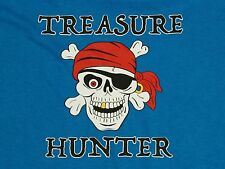 TREASURE HUNTER - Blue METAL DETECTING Relic Shirt with Gold Tooth and Earring