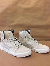 Supra Skytop Chad Muska Skateboarding Shoe Light Grey/White Men's Sizes 7-12 NIB