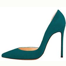 Women's Pointed Toe Patent Suede High Heel Pumps Shoes Party Stilettos