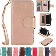 Luxury PU Leather Wallet Card Mirror Flip Cover Stand Case For Samsung Galaxy
