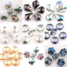 Hot Charms Glass Crystal Faceted Loose Pendant Spacer Finding Beads Butterfly