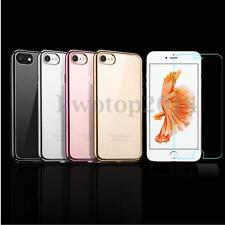 TPU Mirror Case Cover +Tempered Glass Screen Protector For Apple iPhone 7 7 Plus