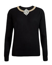 NEW Ted Baker Women's DEMATI Chain embellished jumper  RRP £139.00 SZ  2  5
