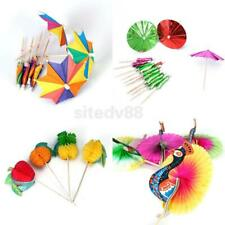 Cocktail Drink Sticks Parasol Umbrella/Peacock/Fruit Cake Sandwich Picks Decor