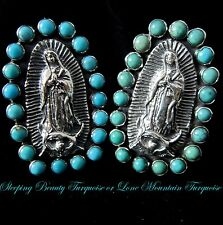 Carlos Gutierrez~GUADALUPE~TURQUOISE~925~Adjustable RING~Choice of Turquoise~8