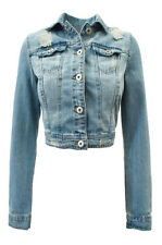 Women Junior Blue Denim Jeans Jacket Ci sono Cavalini fashion Button S,M,L  NEW!