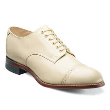 Stacy Adams Mens Ivory Madison Cap Toe Dress Formal Oxford Trending Work Shoe