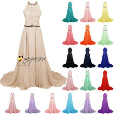 Stock New Formal Long Lace Wedding Bridesmaid Dress Prom Party Evening Gown 6-18