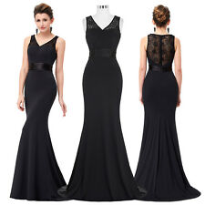 2017 Long Lace Cocktail Dress Evening Party Prom Formal Bridesmaid Gown Dress