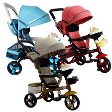 Kids Pushchair C16V9 Trike Bike Stroller Tricycle Pram With Music Wish Push Ride