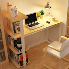 Study Desk Home Office Corner Computer PC Table Workstation with Bookcase Shelf