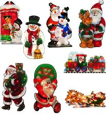 Pre-Lit 45 cm  Double Sided Window Silhouette Christmas Decoration Light