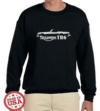 Triumph TR6 TR-6 Sports Car Classic Outline Design Sweatshirt NEW