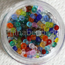 1000Pcs/15g 2MM Czech Frost Glass Seed Beads Jewelry Making DIY Pick 17 Colors
