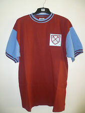 West Ham United Home 1966 SS Retro Football Shirt With Number 6 On The Back