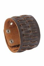 Punk Genuine Leather Han Cuff Bracelet Wristband Clearance Sale!